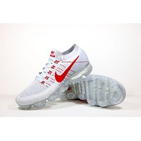 "Nike Air VaporMax Flyknit ""OG"" Trending Men Casual Air Cushion Net Surface Running Sport Shoes Sneakers White I/A"