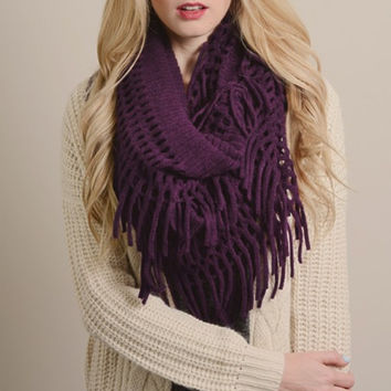 Perfect Fringe Infinity Scarf
