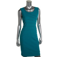 Calvin Klein Womens Woven Shutter Pleat Wear to Work Dress
