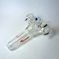 Handmade Glass X-Wing Art Pipe