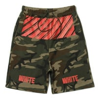 Off White Camo Red Zone Shorts