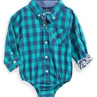 Infant Boy's Andy & Evan for little gentlemen 'Checkmate' Check Bodysuit