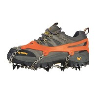 2x Ice Cleat Shoe Boot Tread Grips Traction Crampon Chain Spike Winter Sport Snow w/ Pouch Carabiner