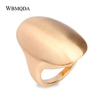 Hot 2018 Fashion Blank Gold Ring Men Accessories High Polished Big Silver Rings For Women Vintage Minimalist Jewelry BFF Gift