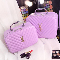 YSL Yves Saint Laurent Portable Cosmetic Bag Storage Bag Washing Bag F0717-1 Purple