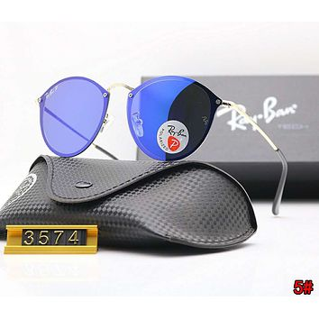 RayBan Ray-Ban Hot Sale Popular Women Men Personality Sunglasses Sun Shades Eyeglasses Glasses 5# Sapphire Blue