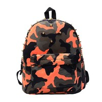 Ulrica 2017 Children students backpack teen boys girls School Bag camo Rivets Camouflage Backpack Cute Baby Toddler
