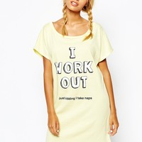 Adolescent Clothing I Work Out Nightshirt