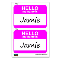 Jamie Hello My Name Is - Sheet of 2 Stickers