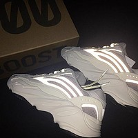 Adidas Yeezy 700 Runner Boost Trending Women Men Stylish Sport Running Shoes Sneakers Grey(Reflective)