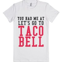 Let's Go To The Bell-Female White T-Shirt