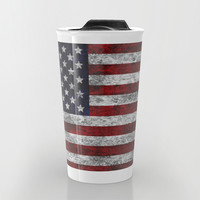 USA Grunge Flag Travel Mug by Alice Gosling | Society6