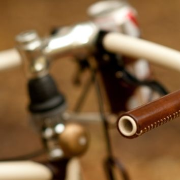 Leather Bicycle City Grips