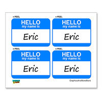 Eric Hello My Name Is - Sheet of 4 Stickers