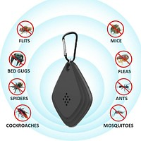 Portable Ultrasonic Mosquito Bug Insect Repeller