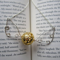 Golden Snitch Necklace Harry Potter Hogwarts Jewelry