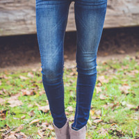 Baby Doll Skinny Jeans in Dark Denim