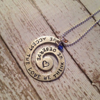 We Accept The Love We Think We Deserve Hand Stamped Necklace The Perks of Being a Wallflower