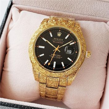 Rolex classic pattern men's and women's casual business watche