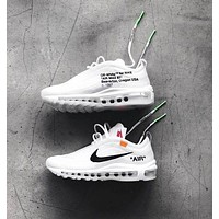 Nike Air Max 97 x OFF-WHITE men's and women's air cushion sneakers Shoes