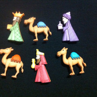 The Three Kings Buttons / Sewing supplies / DIY craft supplies / Novelty Buttons / Party Supplies /Christmas craft supplies