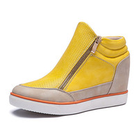 Lora Leather High Top Sneakers