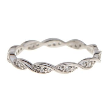 Sterling Silver CZ Eternity Ring