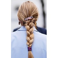 Gucci Classic Fashion Diamond Hairpin Edge Clip Duckbill Clip Spring Clip Accessories