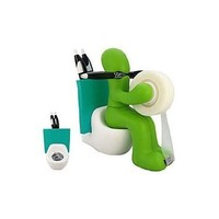 Butt Station Tape Dispenser, Pen & Memo Holder, Paper Clip Storage, Green:Amazon:Office Products