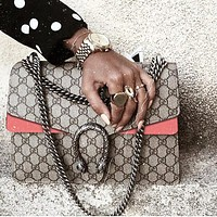 Gucci Fashion Trending Women Shopping Bag Shoulder Bag Crossbody Bag Contrast Bag PInk