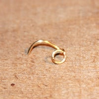 Tiny Cartilage Stud, Open Circle Cartilage Stud, tragus cartilage Stud, Tiny Gold Nose Ring, Tiny Nose Ring, Nose Jewelry