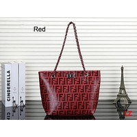 FENDI 2018 new embossed classic letter handbag messenger bag Red