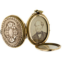 Victorian Oval Locket with Multiple Compartments - 90-1-1675 - Lang Antiques
