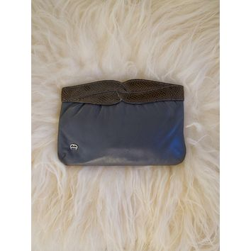 Vintage Smoke Snakeskin Clutch Bag