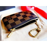 LV Louis Vuitton Monogram Canvas Key Pouch M62650 I
