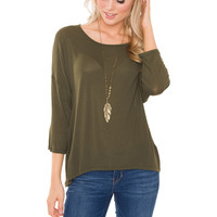 Devyn Basic Top - Olive