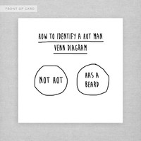 How to identify a hot man. Funny, cheeky, cute, naughty card for a boyfriend, best friend, husband.