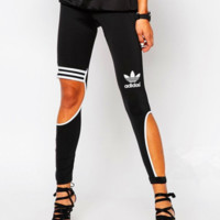 Adidas Originals Fashion Hollow Gym Yoga Running Leggings Sweatpants