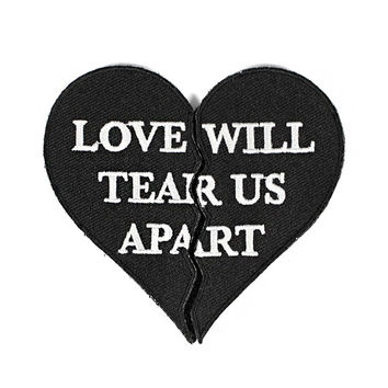 Love Will Tear Us Apart Two-Part Velcro Patch