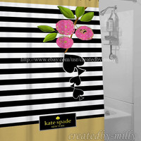 Kate Spade New Arrival Luxury Design High Quality Shower Curtain 60 x 72 Inch