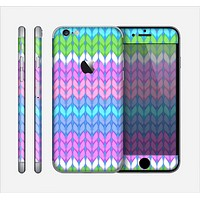 The Bright-Colored Knit Pattern Skin for the Apple iPhone 6