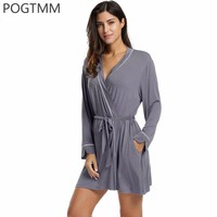 Summer Cotton Bathrobe