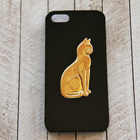 Cat iPhone 5 Case iPhone 5c Cats Gold iPhone 6 Plus Black Cell Phone 5s Case Cat Galaxy S3 Galaxy S4 Cat iPhone Cat Cases iPhone 6 Cat