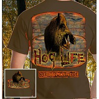 Country Life Outfitters Hog Life Southlands Olive Vintage Unisex Bright T Shirt