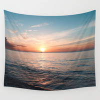 Hawaii sunset Wall Tapestry by Sylvia Cook Photography