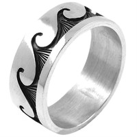 Classic Waves - Silver Ring