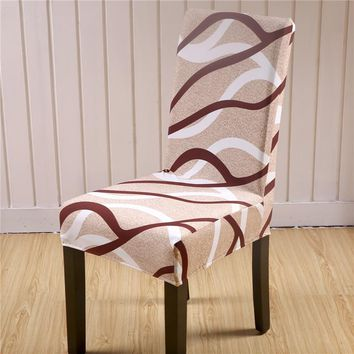SunnyRain 4/6 Pieces Polyester Chair Covers Spandex Wedding Chair Covers Dining Chair Cover housse de chaise fundas para sillas