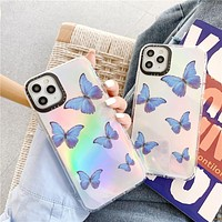 Butterfly print iphone11 anti-drop airbag mobile phone case cover
