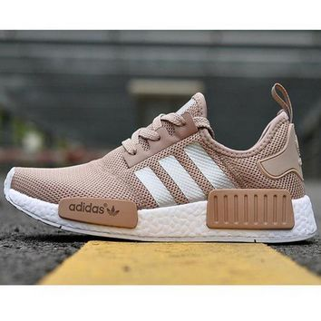 """Women """"Adidas"""" NMD Boots  Casual Sports Shoes Khaki"""