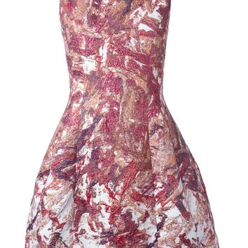Prabal Gurung brocade flared dress